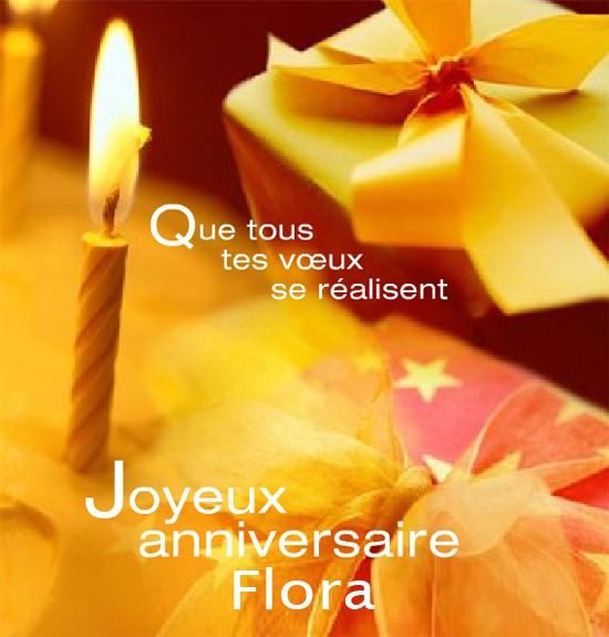 !! JOYEUX ANNIVERSAIRE FLORA !! Flora